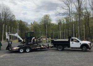 Dump Truck with Mini Excavator